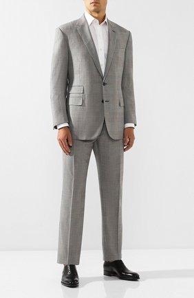 Мужской шерстяной костюм RALPH LAUREN серого цвета, арт. 798741052 | Фото 1 (Рукава: Длинные; Материал внешний: Шерсть; Костюмы М: Однобортный; Стили: Классический)