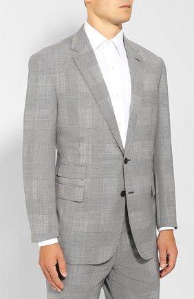 Мужской шерстяной костюм RALPH LAUREN серого цвета, арт. 798741052 | Фото 2 (Рукава: Длинные; Материал внешний: Шерсть; Костюмы М: Однобортный; Стили: Классический)