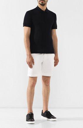 Мужские кожаные кеды ERMENEGILDO ZEGNA черного цвета, арт. A2634X-HHPTA | Фото 2