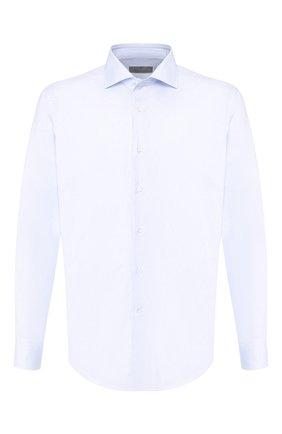 Мужская хлопковая сорочка CANALI голубого цвета, арт. 7C3/GA00101/S | Фото 1