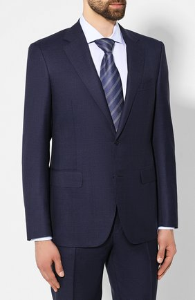 Мужской шерстяной костюм CANALI темно-синего цвета, арт. 11280/19/BF00782 | Фото 2