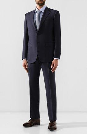 Мужской шерстяной костюм CANALI синего цвета, арт. 11220/10/BF00069 | Фото 1