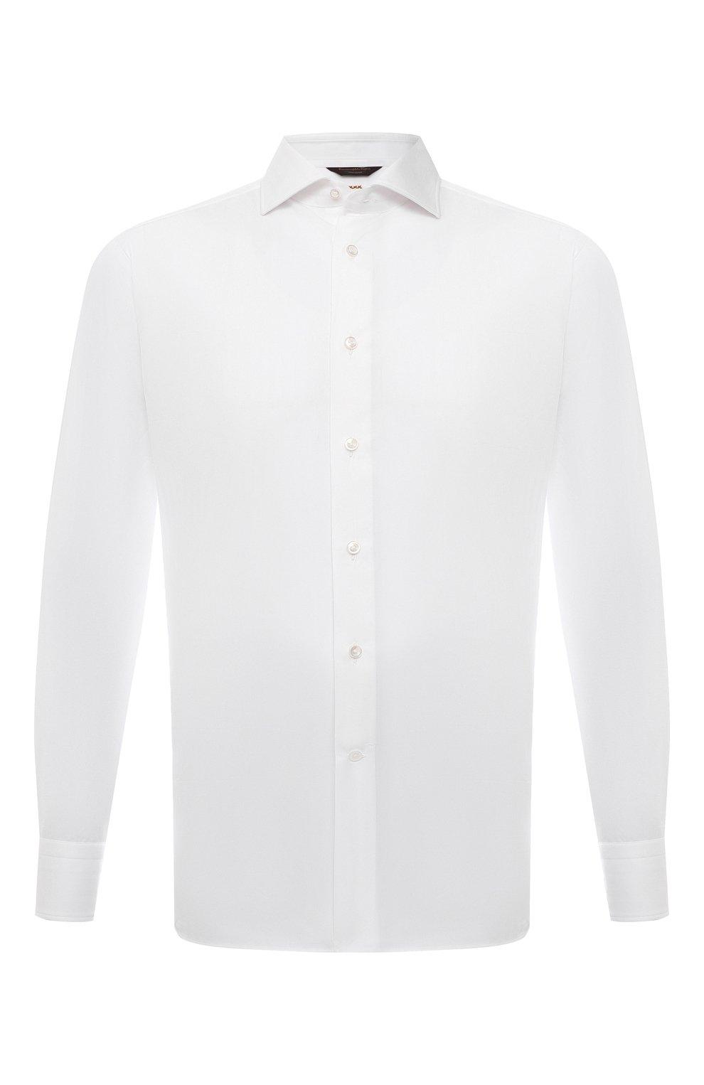 Мужская хлопковая сорочка ZEGNA COUTURE белого цвета, арт. 402300/9NS0LB | Фото 1