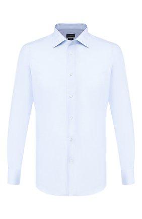 Мужская хлопковая сорочка ERMENEGILDO ZEGNA голубого цвета, арт. 601030/9MS0BR | Фото 1