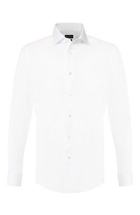 Мужская хлопковая сорочка ERMENEGILDO ZEGNA белого цвета, арт. 601031/9MS4BA | Фото 1