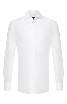 Мужская хлопковая сорочка ERMENEGILDO ZEGNA белого цвета, арт. 601032/9MS0BA | Фото 1
