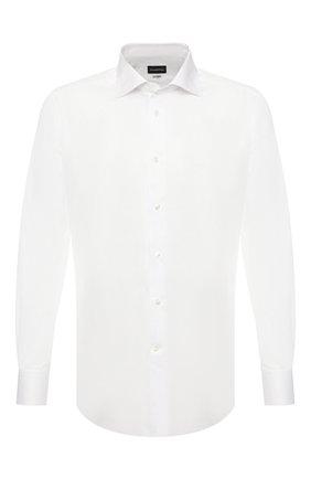 Мужская хлопковая сорочка ERMENEGILDO ZEGNA белого цвета, арт. 601222/9RS0BR | Фото 1