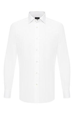Мужская хлопковая сорочка ERMENEGILDO ZEGNA белого цвета, арт. 601503/9MS0BR | Фото 1