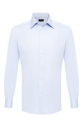 Мужская хлопковая сорочка ERMENEGILDO ZEGNA голубого цвета, арт. 604005/9MS0PA | Фото 1