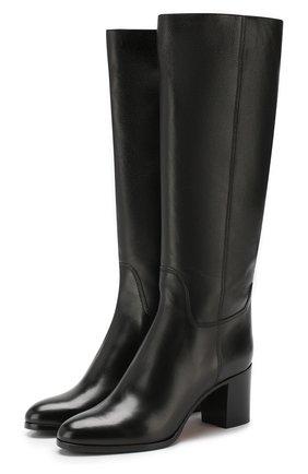 Женские кожаные сапоги SANTONI черного цвета, арт. WSXG57594HI1CGHYN01 | Фото 1