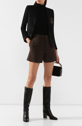 Женские кожаные сапоги SANTONI черного цвета, арт. WSXG57594HI1CGHYN01 | Фото 2