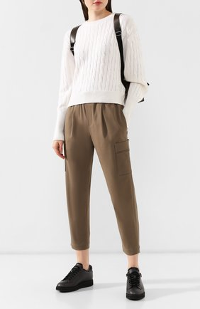 Женские кожаные кеды SANTONI черного цвета, арт. WBDP60484NE0PSEMN01 | Фото 2
