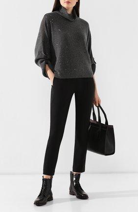 Женские кожаные ботинки BRUNELLO CUCINELLI черного цвета, арт. MZPRC1579P | Фото 2