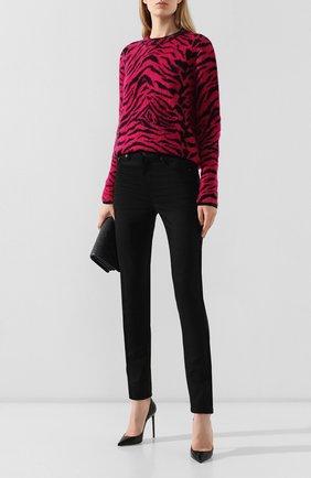 Женские джинсы SAINT LAURENT черного цвета, арт. 527379/YF869   Фото 2