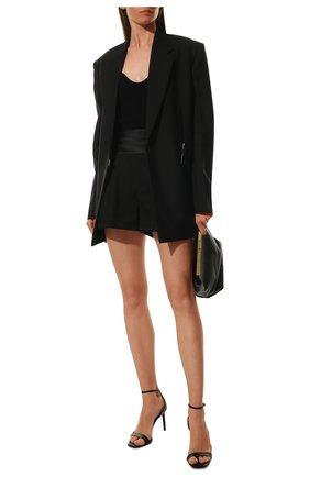 Женские шерстяные шорты SAINT LAURENT черного цвета, арт. 577213/Y399W | Фото 2