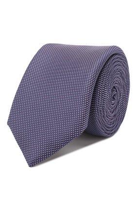 Мужской шелковый галстук BOSS фиолетового цвета, арт. 50419715 | Фото 1