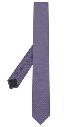 Мужской шелковый галстук BOSS фиолетового цвета, арт. 50419715 | Фото 2
