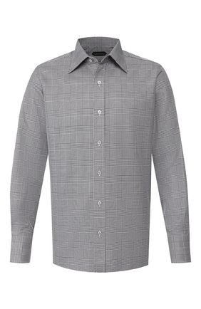 Мужская хлопковая сорочка TOM FORD черно-белого цвета, арт. 6FT720/94S1JE | Фото 1