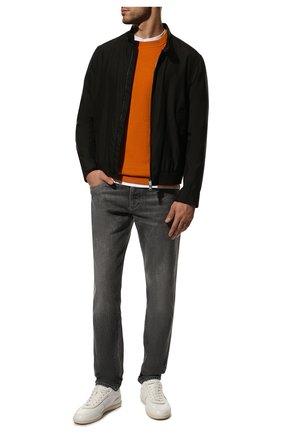 Мужской кашемировый джемпер LORO PIANA оранжевого цвета, арт. FAI3108 | Фото 2
