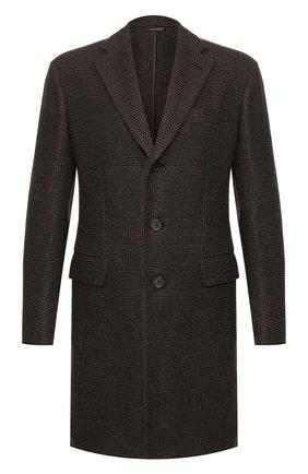 Мужской шерстяное пальто BRIONI коричневого цвета, арт. R0QN0L/08A8L | Фото 1