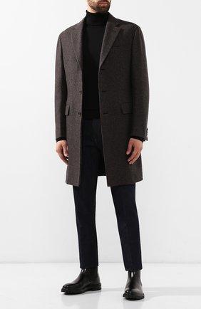 Мужской шерстяное пальто BRIONI коричневого цвета, арт. R0QN0L/08A8L | Фото 2