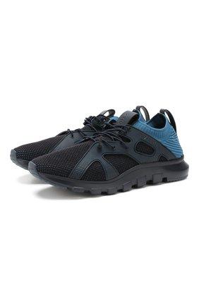 Мужские текстильные кроссовки Z ZEGNA синего цвета, арт. A4300X-LHTPU   Фото 1