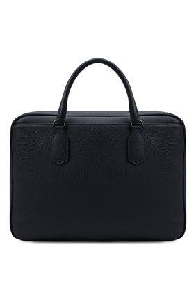 Мужская кожаная сумка для ноутбука CANALI темно-синего цвета, арт. P325153/NA00051 | Фото 1