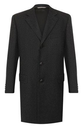 Мужской шерстяное пальто CANALI темно-серого цвета, арт. 57110/FF02247 | Фото 1