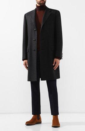 Мужской шерстяное пальто CANALI темно-серого цвета, арт. 57110/FF02247 | Фото 2