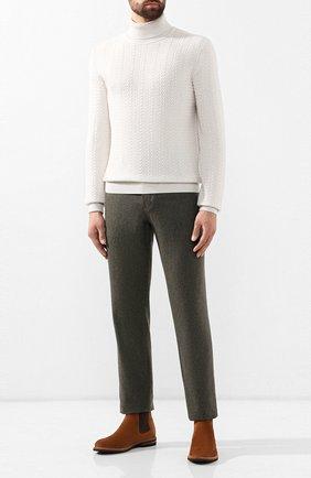 Мужской кашемировый свитер ERMENEGILDO ZEGNA белого цвета, арт. UTK23/120 | Фото 2