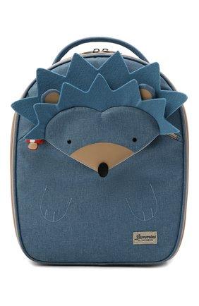 Детский дорожный чемодан на колесиках happy sammies SAMSONITE синего цвета, арт. CD0-21033 | Фото 1