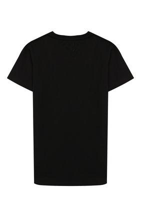 Детская хлопковая футболка BILLIONAIRE черного цвета, арт. BTK0748 | Фото 2