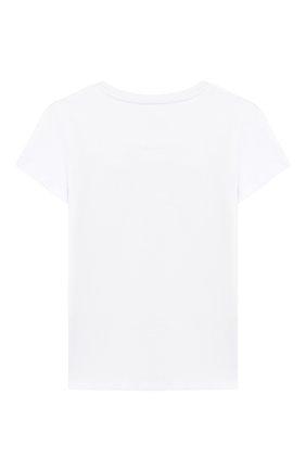Детская хлопковая футболка PHILIPP PLEIN белого цвета, арт. GTK0382 | Фото 2