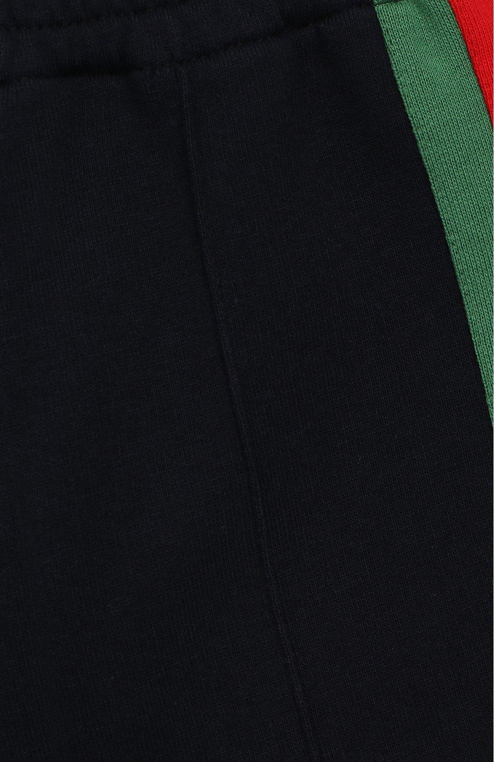 Детские хлопковые брюки GUCCI синего цвета, арт. 516308/X9T78 | Фото 3
