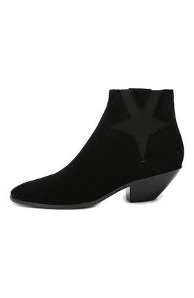 Женские замшевые ботинки west SAINT LAURENT черного цвета, арт. 579196/0W300 | Фото 3