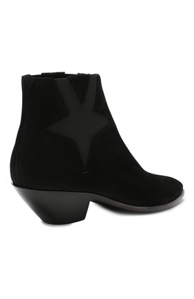 Женские замшевые ботинки west SAINT LAURENT черного цвета, арт. 579196/0W300 | Фото 4