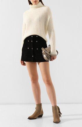 Женские замшевые ботинки lukas SAINT LAURENT светло-коричневого цвета, арт. 579119/BT300 | Фото 2