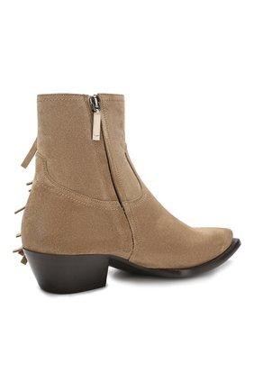 Женские замшевые ботинки lukas SAINT LAURENT светло-коричневого цвета, арт. 579119/BT300 | Фото 4