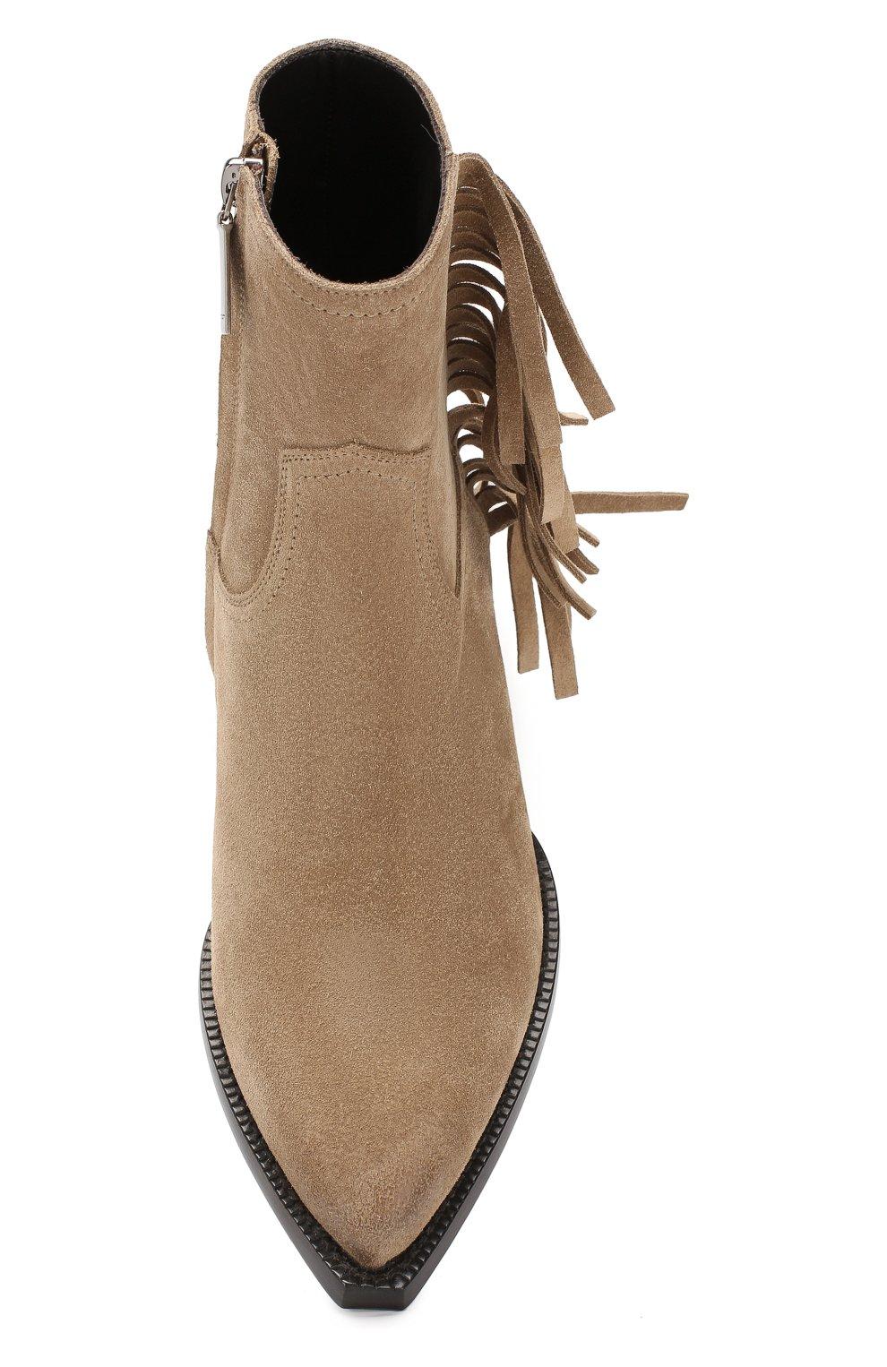 Женские замшевые ботинки lukas SAINT LAURENT светло-коричневого цвета, арт. 579119/BT300 | Фото 5
