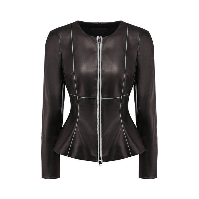 Кожаная куртка Giorgio Armani