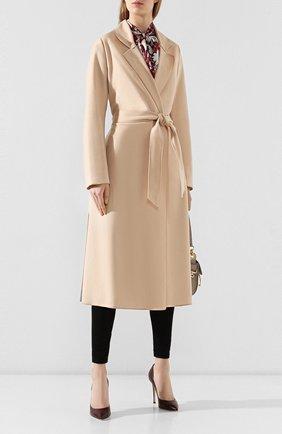 Женское шерстяное пальто FORTE_FORTE бежевого цвета, арт. 6519 | Фото 2