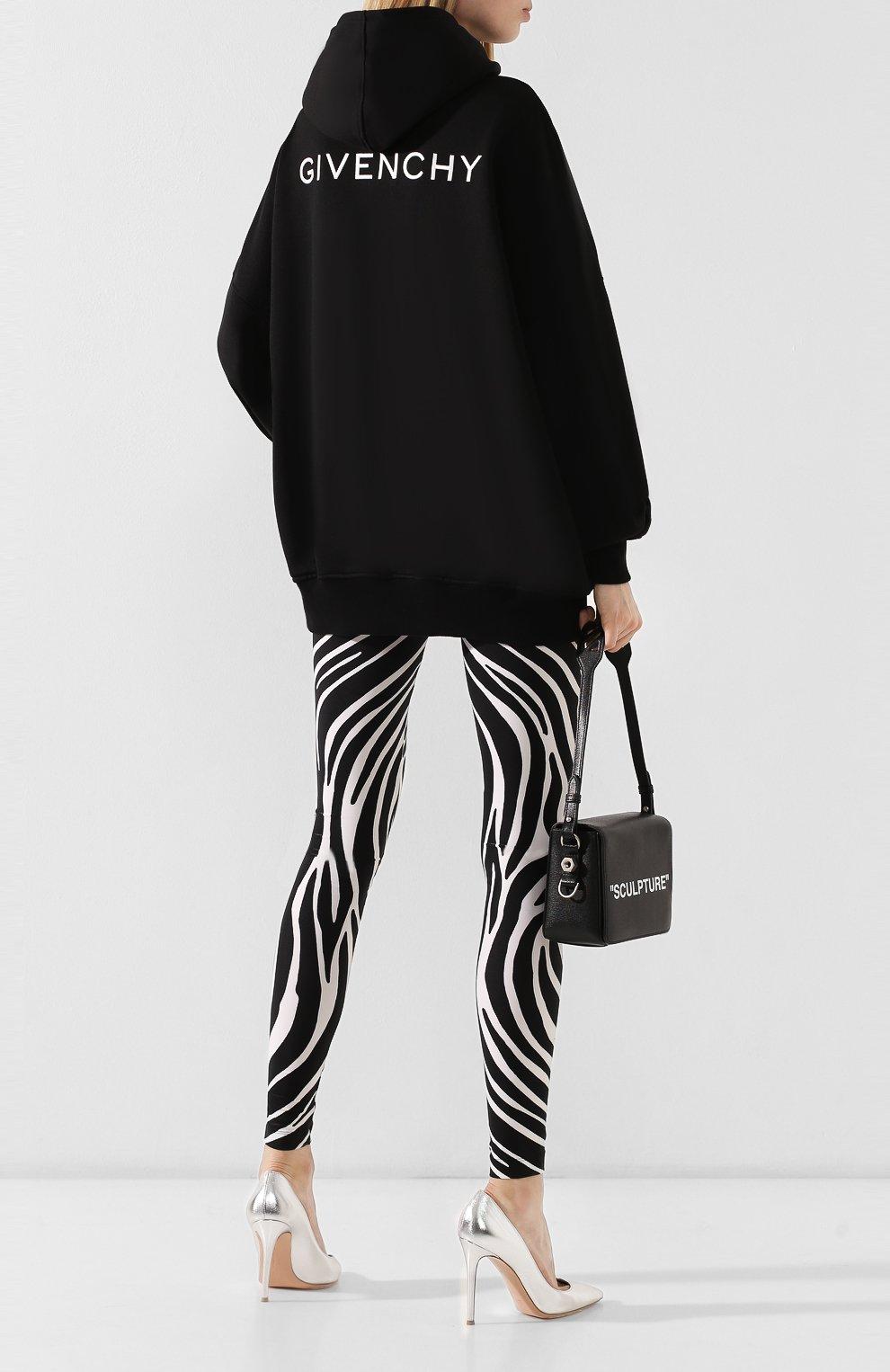 Кардиган с капюшоном Givenchy черный | Фото №2