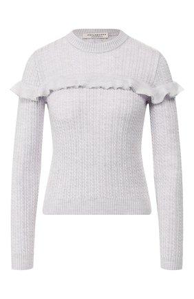 Женская шерстяной пуловер PHILOSOPHY DI LORENZO SERAFINI голубого цвета, арт. A0954/5700 | Фото 1