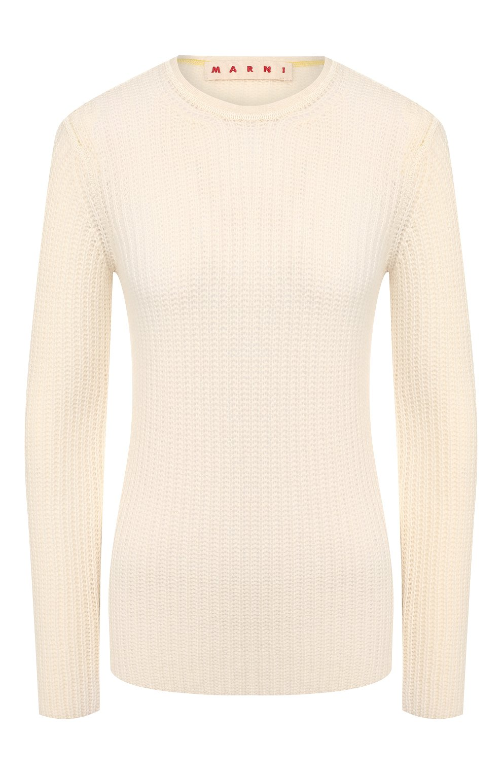 Женский кашемировый пуловер MARNI белого цвета, арт. GCMD0125Q0/FX391   Фото 1