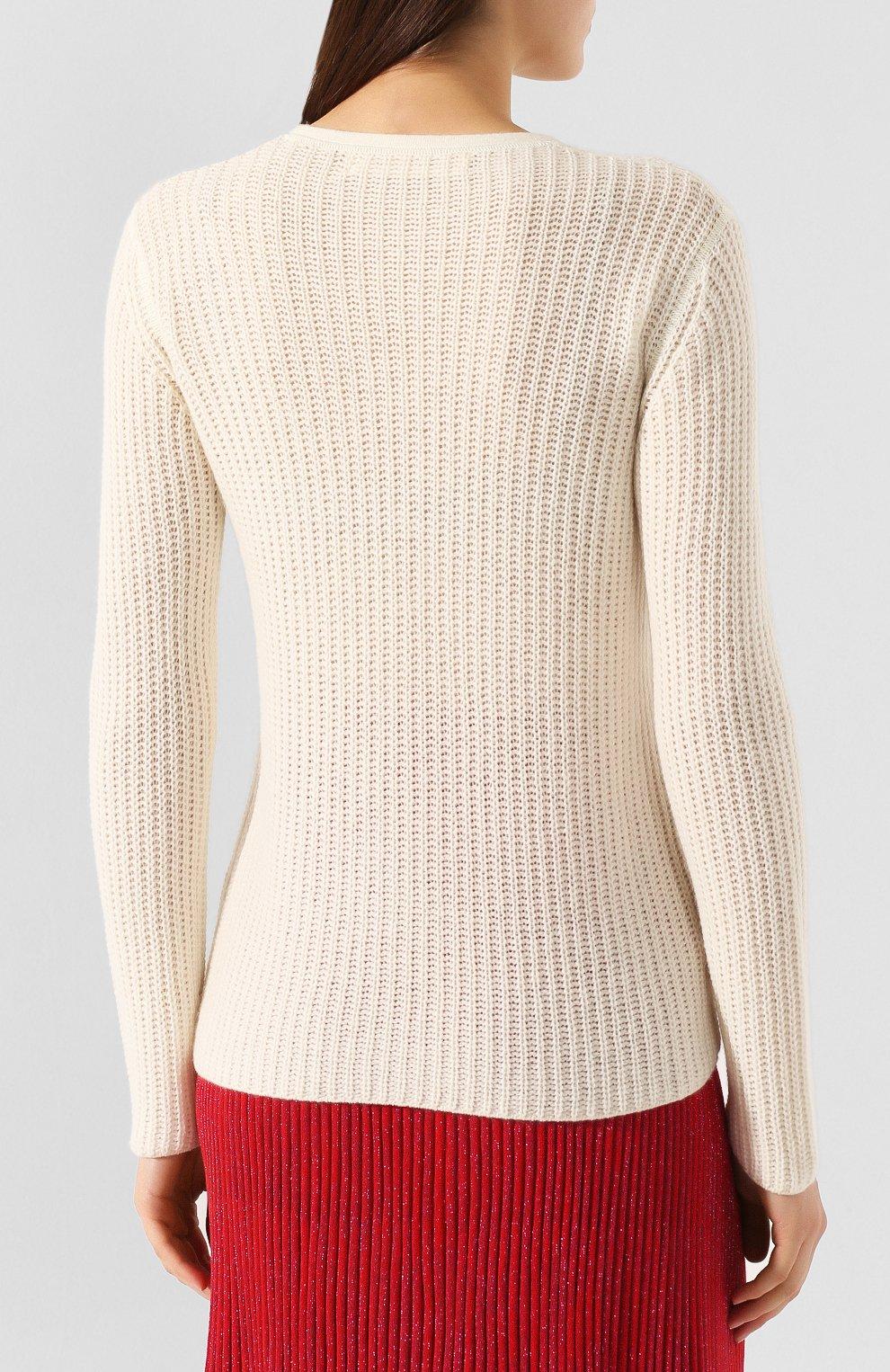 Женский кашемировый пуловер MARNI белого цвета, арт. GCMD0125Q0/FX391   Фото 4