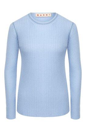 Женская кашемировый пуловер MARNI голубого цвета, арт. GCMD0125Q0/FX391 | Фото 1