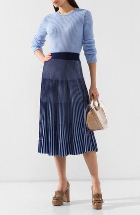 Женская кашемировый пуловер MARNI голубого цвета, арт. GCMD0125Q0/FX391 | Фото 2