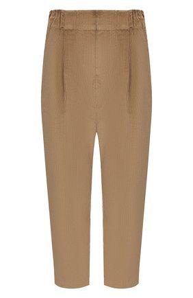 Женские вельветовые брюки BRUNELLO CUCINELLI бежевого цвета, арт. MP104P7054 | Фото 1