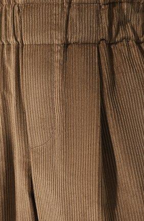 Женские вельветовые брюки BRUNELLO CUCINELLI бежевого цвета, арт. MP104P7054 | Фото 5