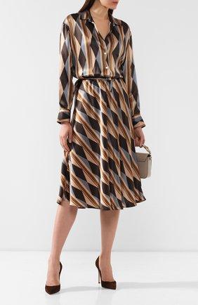 Женское шелковое платье KITON разноцветного цвета, арт. D48301K04S43 | Фото 2